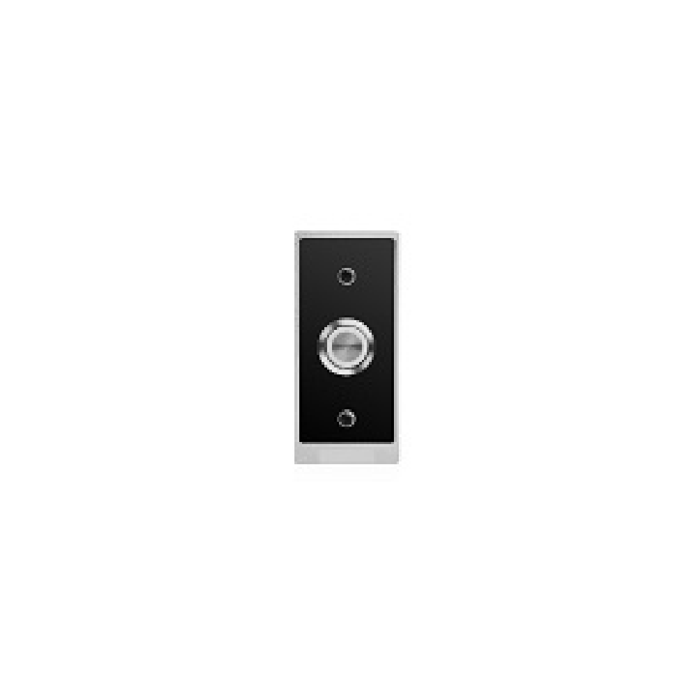 SBSButton Push Button Silver with Black Flush Plate